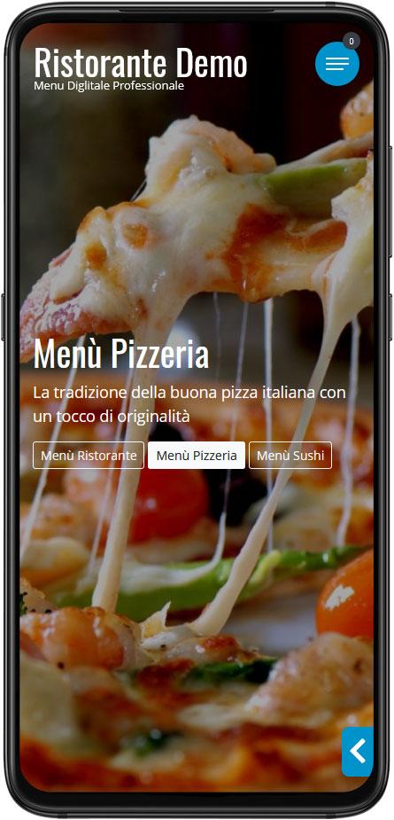 Menu Digitale Demo Esempio Pizzeria