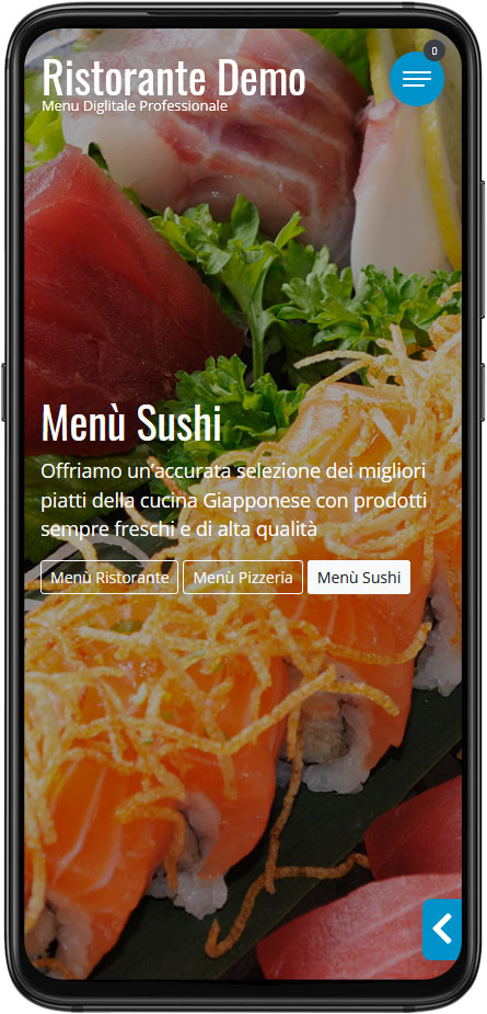 Menu Digitale Demo Esempio Sushi Giapponese Cinese