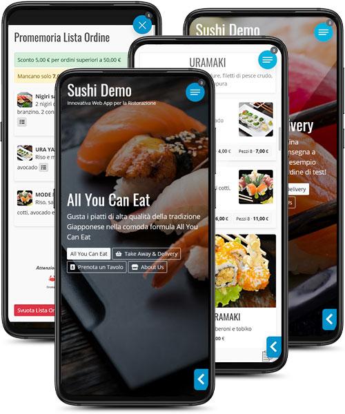 Menù Digitale Sushi All You Can Eat Asporto e Consegna