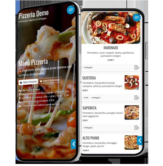 Web App Ricezione Ordine Takeaway Delivery Pizzeria